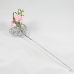 Silver Wand with Flowers