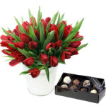Valentines Tulips & Choc