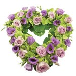 lilac and lavender heart from £79.90