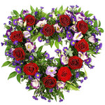 purple & red heart from £79.90