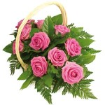 rose basket arrangement from £34.90