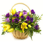 seasonal flower basket from £29.90