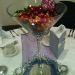Roses sweets in Martini Vase
