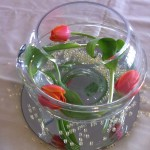 Fish Bowl with Tulips