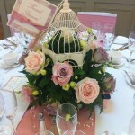 Medium Birdcage with Flowers from £30
