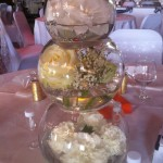 3 Tier Fishbowl with flowers