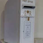 White Cast Iron Postbox
