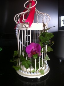 Small Round Birdcage with Flowers from £20