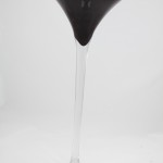 Black & Clear Cocktail Vase £8 to hire